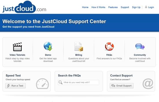 JustCloud Cloud Speicher Support